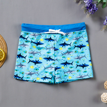 Boys Swimming Short Trunks Bathing-Suit Toddler Beach Shark-Print Sports Beach-Wear-St236