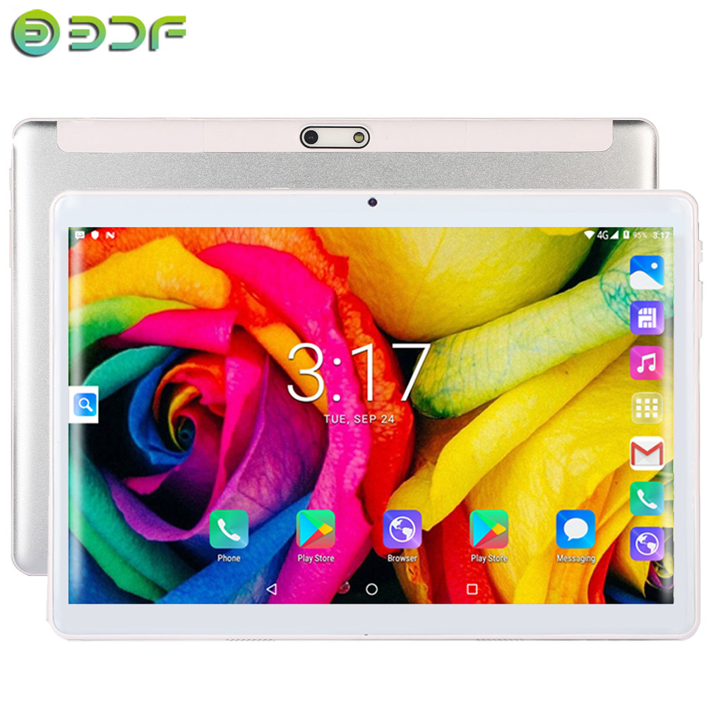 New 10.1 Inch Tablet 2.5D Steel Screen Android 7.0 3G Phone Call Quad Core 32GB ROM Bluetooth 4.0 Wi-FI Tablet PC+Keyboard