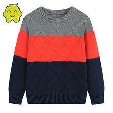 2021 New Children'S Clothing Kids Sweaters Casual Spring  Autumn Winter O-Neck Striped Cotton Long Sleeve Knitted Sweater Baby