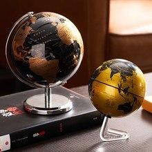 Globo do mundo com suporte de rotação decoração terra geografia educação brinquedo mapa material escolar decoração para casa escritório