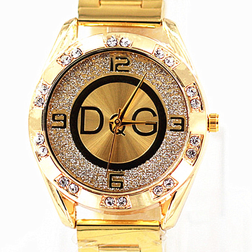 Zegarek Damski New DQG Fashion Brand Watch Luxury Crystal  Quartz Women Watches Gold Silver Stainless Ladies Dress Watch  Reloj