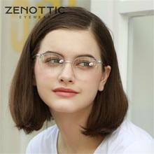 Zenotticレトロアセテートラウンドメガネフレーム女性透明光学近視眼鏡ヴィンテージ超軽量prescritpion眼鏡