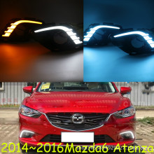 Turning Signal & Dimming style relay 12V LED car DRL daytime running lights with fog lamp hole for Mazda 6 Atenza 2013 2014 2015 все цены