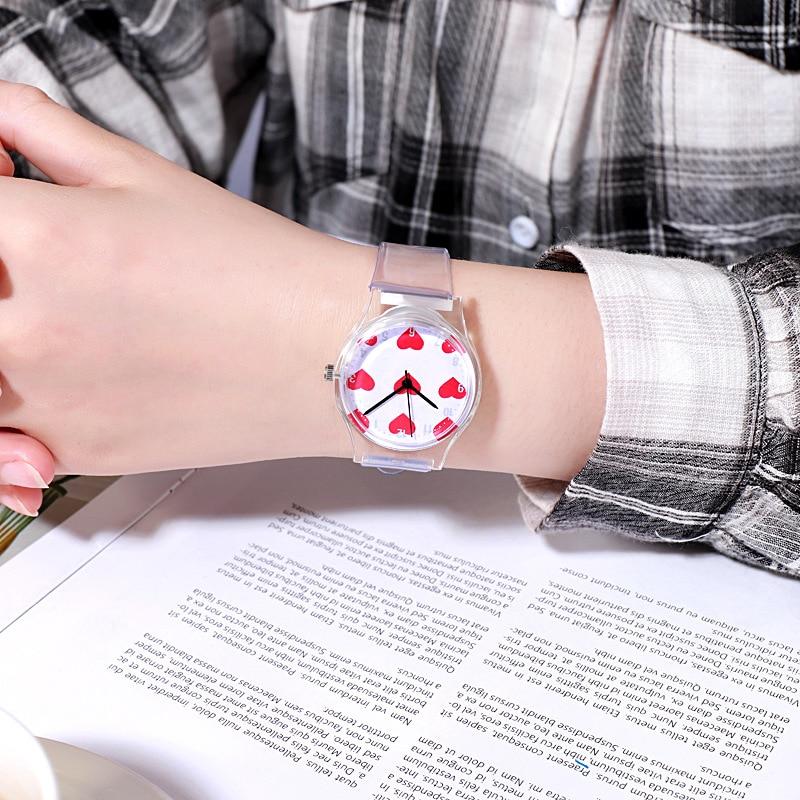 Simple Waterproof Children Watch Casual Transparent Watch Kids Boys Watch Girls Wrist Watches Clock Relogio Montre Enfant