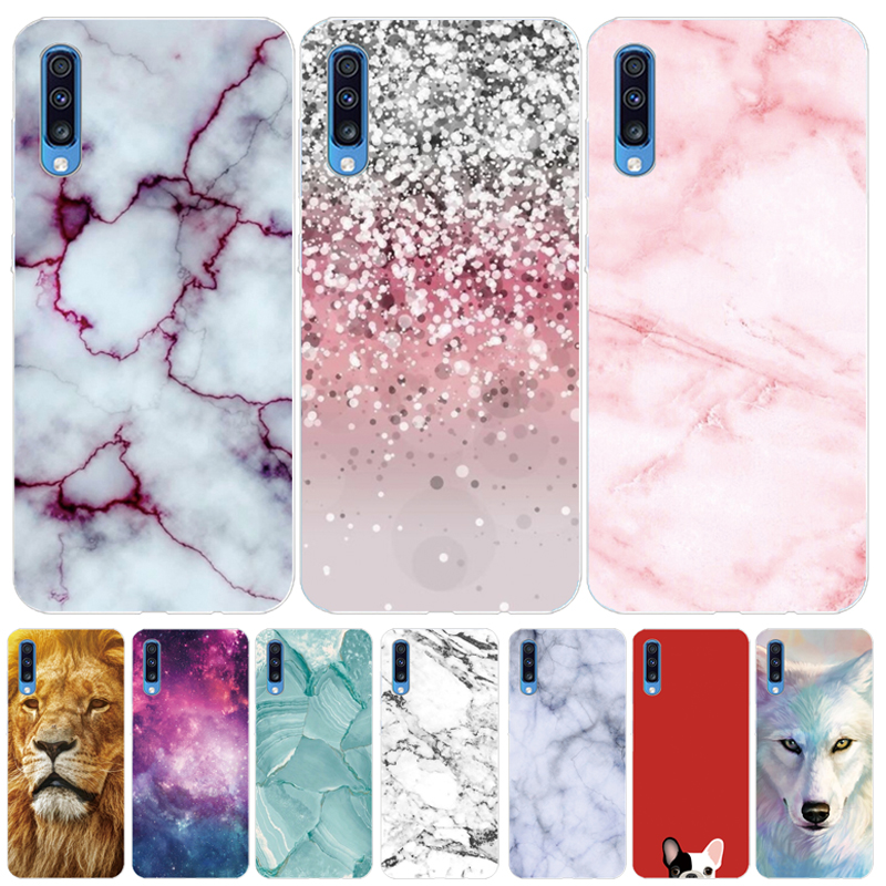 Soft TPU Silicone <font><b>Case</b></font> For <font><b>Samsung</b></font> <font><b>Galaxy</b></font> A70 A 70 Cartoon Painting Cover Luxury Protective <font><b>Cases</b></font> Phone Shells Fundas Coque Capa image