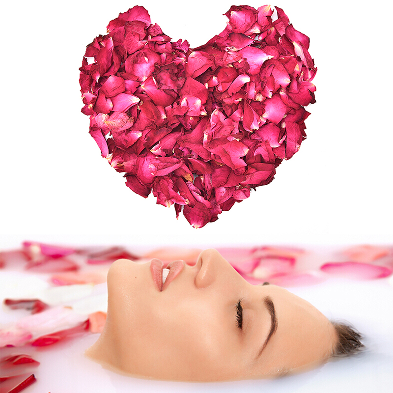 Dried Rose Petals Natural Dry Flower Fragrant Bath Spa Shower Tool Whitening Bath Beauty Foot  Body Skin Care 50/100g