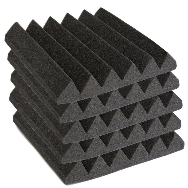 12 PCS Acoustic Wedge Studio Foam Sound Absorption Wall Panels Noise Insulation Sponge Absorption Treatment Panel Tile