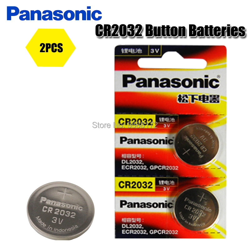 PANASONIC 2Pcs original brand new <font><b>battery</b></font> <font><b>cr2032</b></font> 3v button cell coin <font><b>batteries</b></font> for remote watch computer electronic cr 2032 image