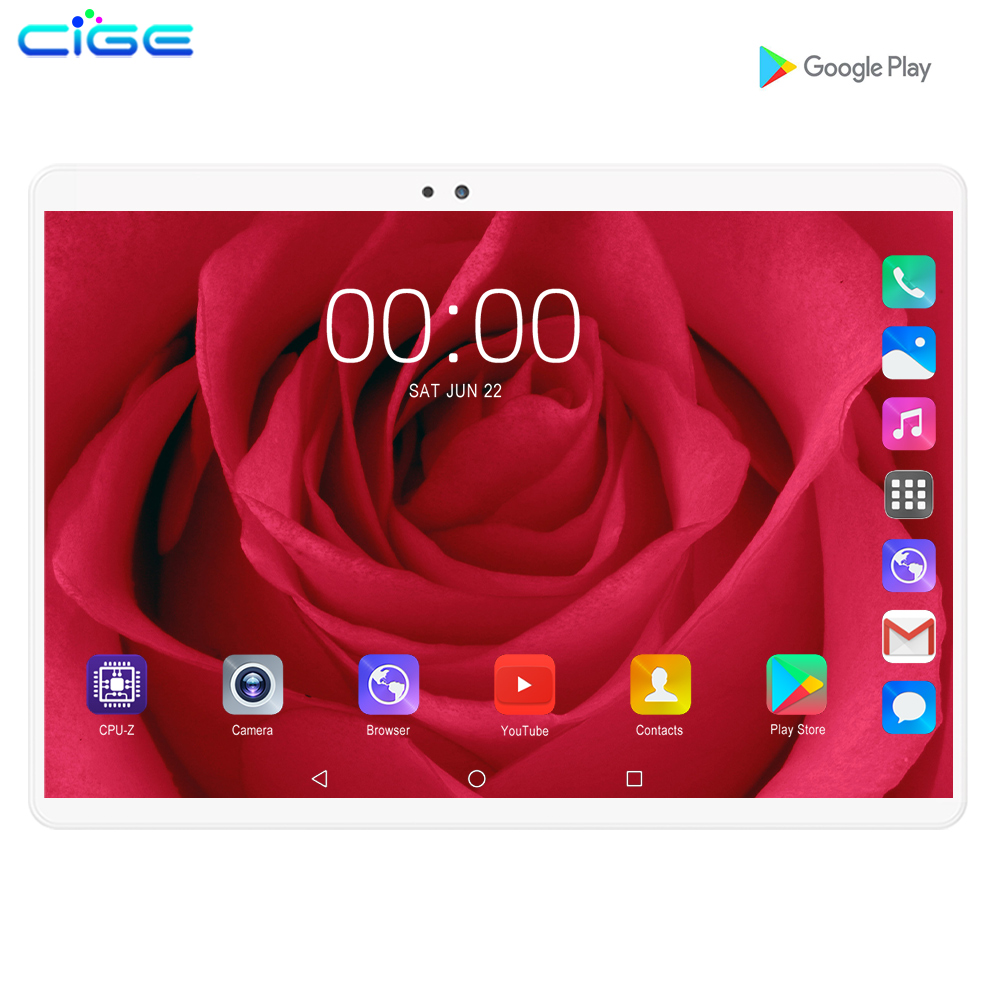 New 10.1 Inch Tablet PC Octa Core Android 9.0 WiFi Dual SIM Cards 4G LTE Tablets 10 6GB RAM 128GB ROM Memory Card Gift Tablets