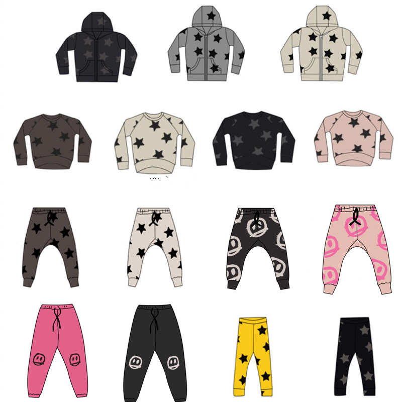 Boys Outfits NX Brand Stars New Fall Baby Boy Clothing Long Sleeve T-shirt Pants Toddler Kids Casual Sports Suit Girls Clothes 1