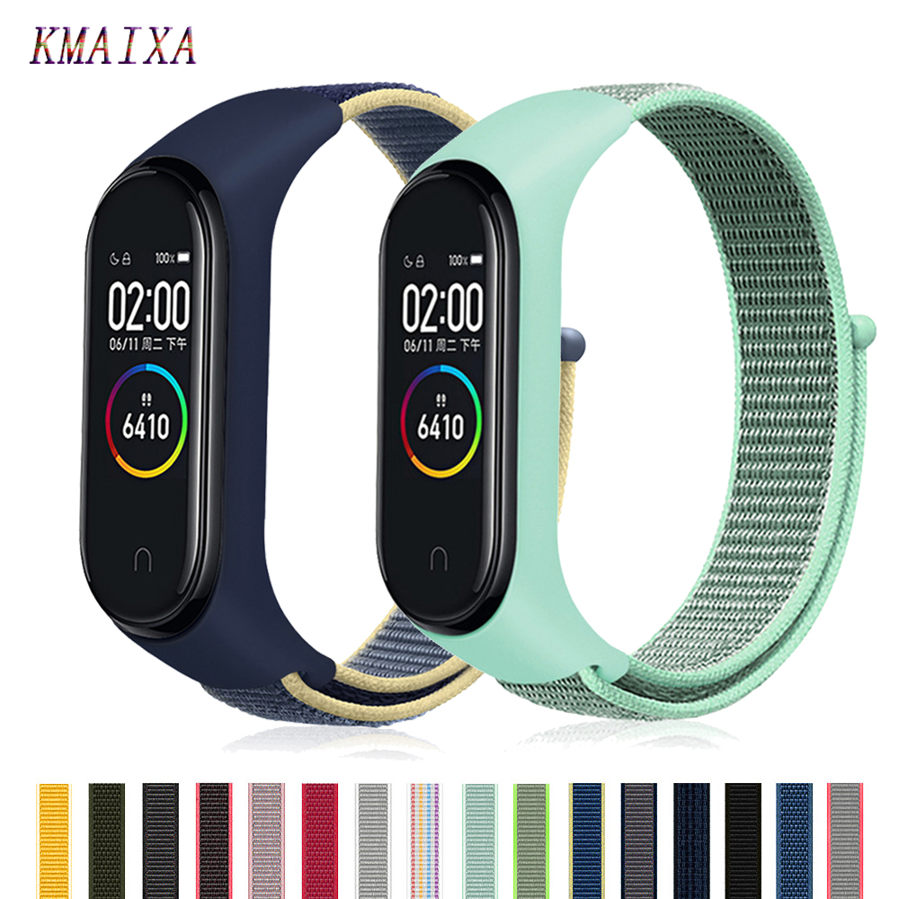 Pulseira Mi Band 4 Strap For Xiaomi Mi Band 4 3 Sports Nylon Watch Strap Breathable Bracelet Watchband Smart Watch Accessories 4