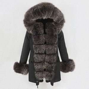 Image 5 - OFTBUY Waterproof Long Parka Winter Jacket Women Real Fur Coat Natural Fox Fur Collar Hood Thick Warm Streetwear Detachable New