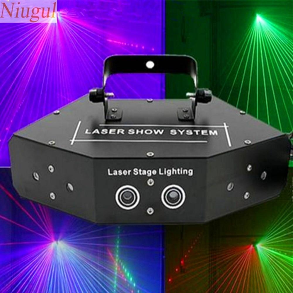 6 Lens Rgb Scan Laser Full Color Dmx512
