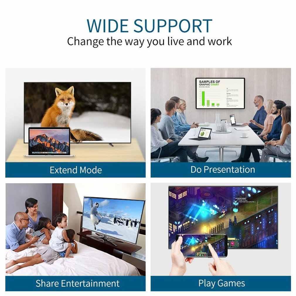 Tipe-C untuk HDMI Adaptor Multifungsi HDMI Converter Video Berkualitas Tinggi Audio untuk Komputer Laptop Ponsel Tablet