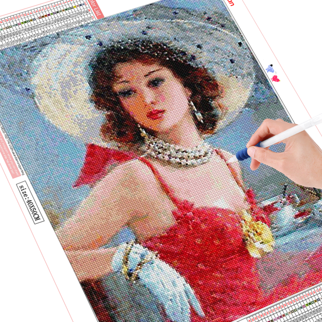 HUACAN DIY Diamond Embroidery 5D Girl Full Square Diamond Painting Dancer Picture Handcraft Mosaic Home Decoration