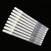 White Hook Liner Pens Black Paper Highlighter Reviser 0.8mm New