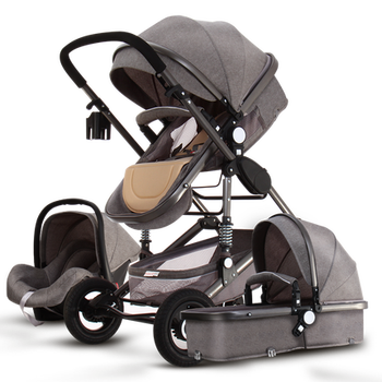 Newborn Baby Stroller 3 in 1 High Landscape Carriage Luxury Travel Pram Basket quality Stroller Baby Car seat Hot Sale Upgrade! 18