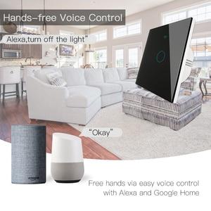 Image 4 - Wifi + rf433mhz vida inteligente interruptor de luz inteligente tuya trabalho controle remoto sem fio com alexa eco google casa preto 1/2/3 gang