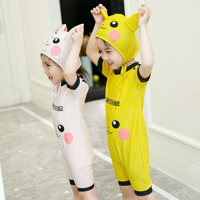 KID'S Swimwear Girls BOY'S Big Boy Small CHILDREN'S-Child Baby Swimwear Cute Princess One-piece Swimsuit Set