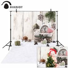 цены Allenjoy vinyl photo backdrops Snow gift board children happy Christmas background photobooth new arrivals original design