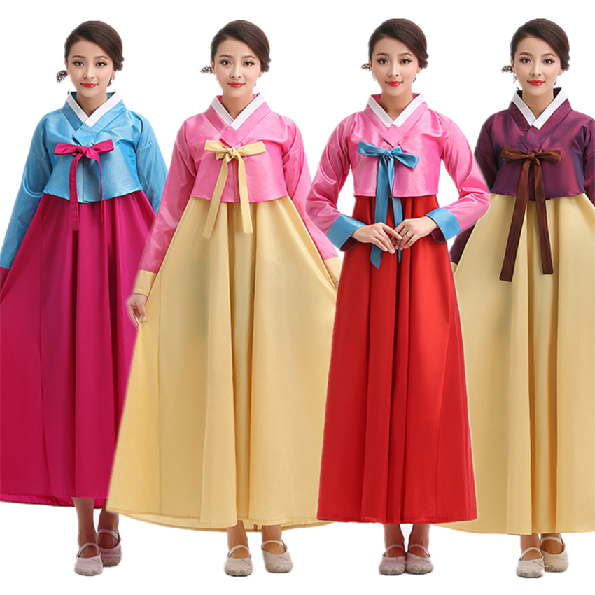 Traditional Korean Clothing For Women Hanbok Dress Dance Costumes Festival Outfit Stage Performance Clothing Retro Dress