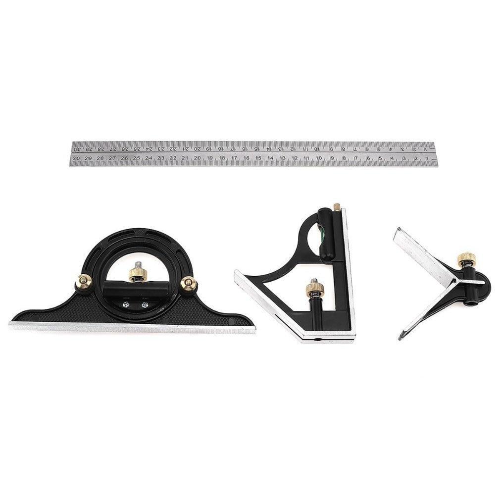 Combination Square Set Angle Finder & Protractor Spirit Level Aluminum Alloy Ruler Mitre