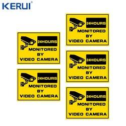 Ostrzeżenie znaki bezpieczeństwa-naklejki na okna kamera telewizji przemysłowej dom Security-24hr System nadzoru CCTV Alert Sign