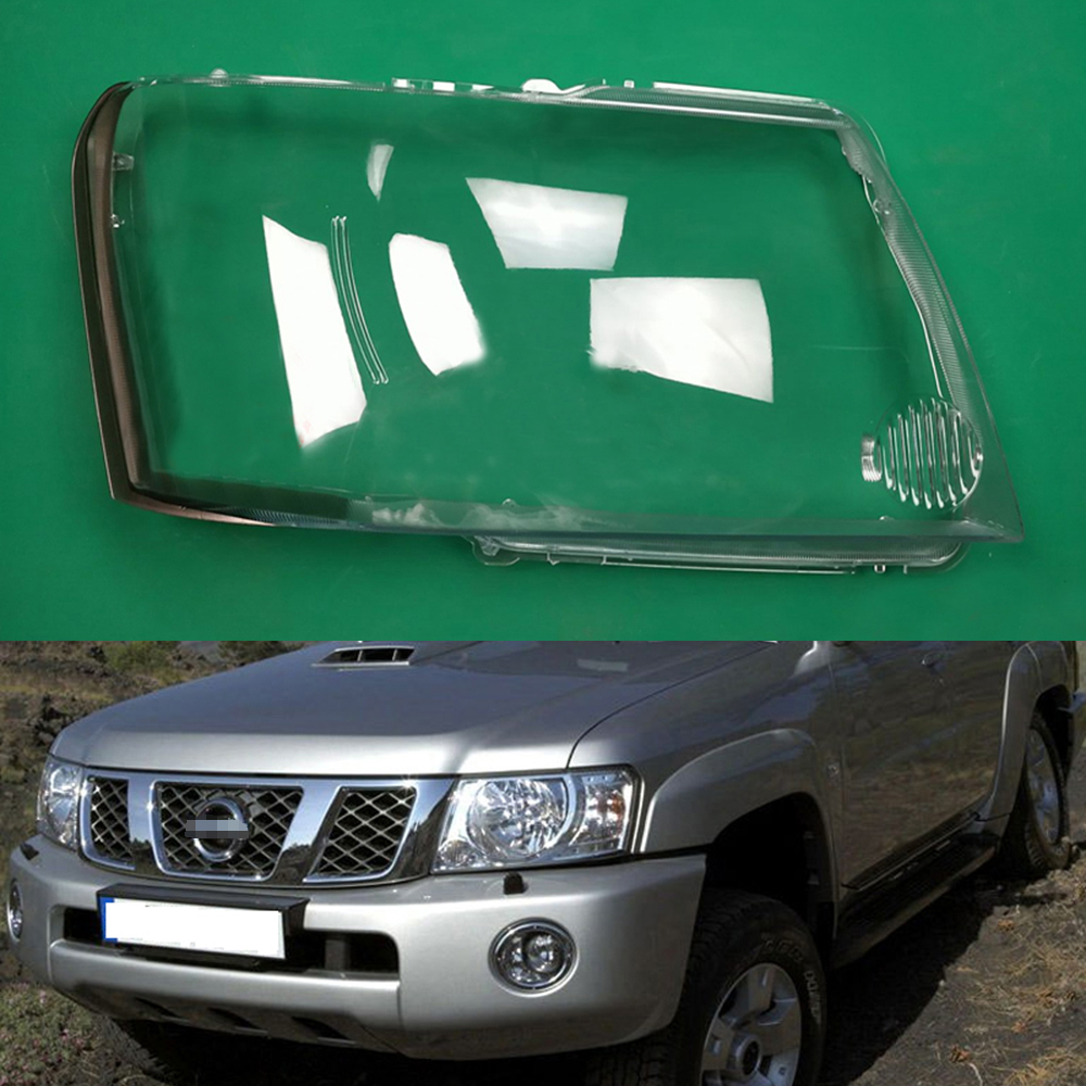 Car Headlamp Lens For Nissan Patrol 2004 2005 2006 2007 2008 2009 2010 2011  Car  Replacement   Auto Shell
