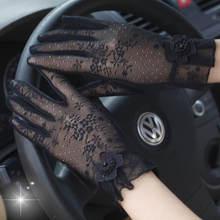 Новые летние женские кружевные перчатки с сенсорным экраном