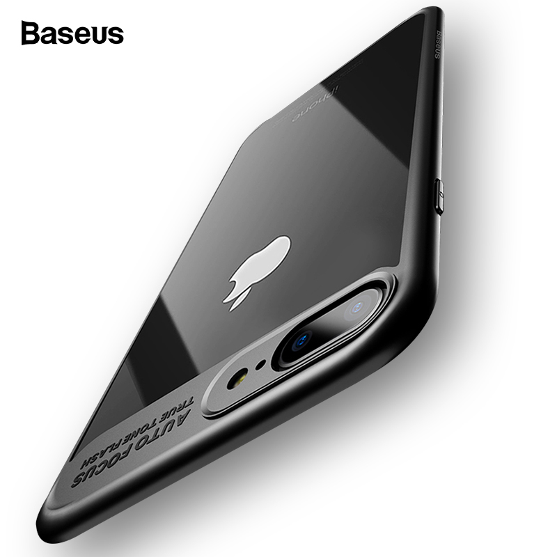 <font><b>Baseus</b></font> Luxury Case For <font><b>iPhone</b></font> X 7 6 s Ultra Thin Capinhas PC & TPU Silicone Cover Case For <font><b>iPhone</b></font> 7 6 s <font><b>6s</b></font> Plus Coque Fundas image