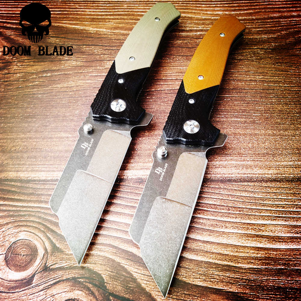 205mm 100% D2 Blade Ball Bearing Knives Folding Pocket Knife Combat Survival Tactical Outdoor Knives Hunting Camping G10 Handle