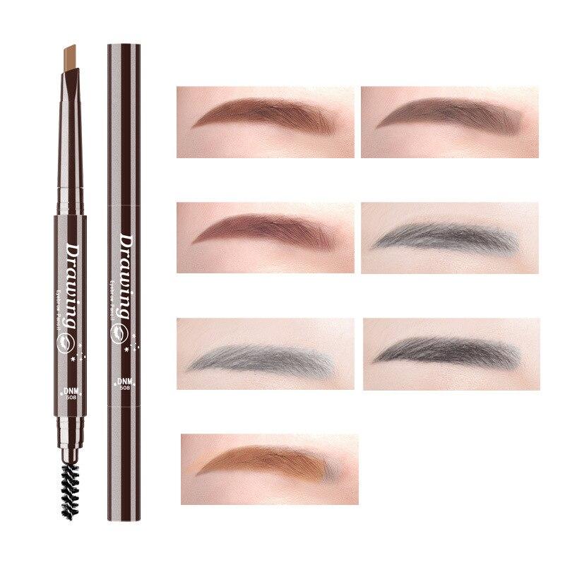 DNM 7 цветов натуральный макияж двойная головка супер тонкий карандаш для бровей водостойкая долговечная легкая посуда ручка для макияжа бро...