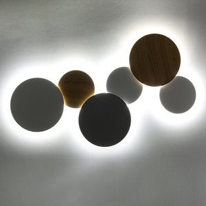 Image 2 - Modern Creative Eclipse LED Ceiling Lamp Stairs Aisle Corridor Background Bedroom Bedside Round Ceiling Light For Livingroom