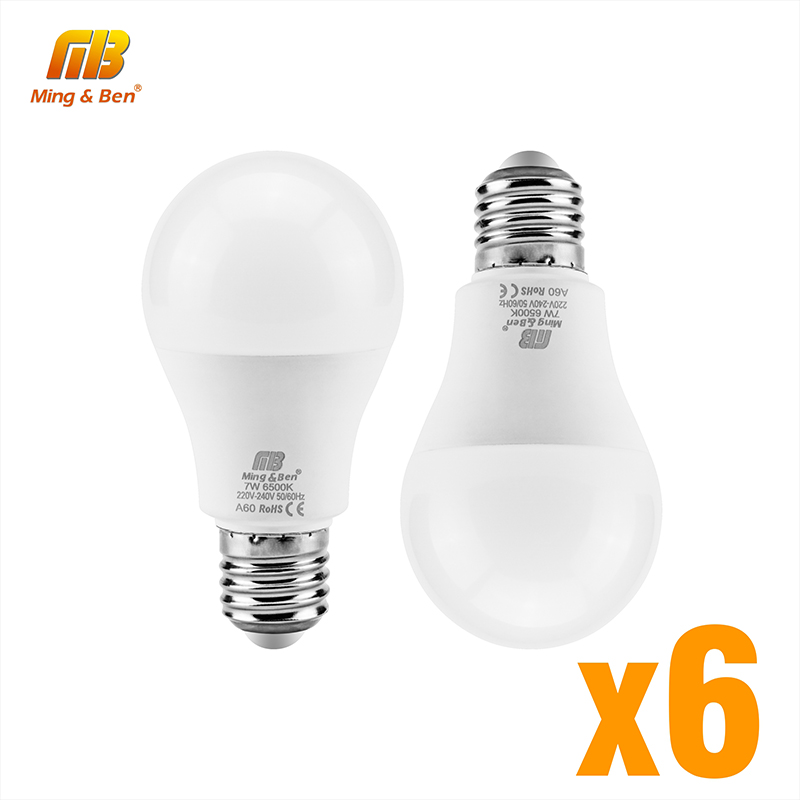 6pcs/lot E27 LED Lamp Bulb 18W 15W 12W 9W 220V Bombilla Day White Cold White Warm White High Brightness Indoor Livingroom Light