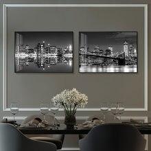 Tela branca e preta para decoração, arte da parede, do mundo, da cidade, paisagem, paris, londres, nova iorque, impressões, estilo nórdico, decoração de casa