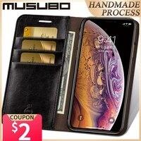 Custodia in pelle Musubo per iPhone 11 Pro Max 8 Plus 7 custodia a portafoglio per telefono di lusso Cover per iphone Xs Max X 6 6s Plus Card Capa Coque