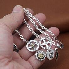 s925 sterling silver jewelry men and women fashion retro Takahashi Goro golden eagle cat palm Thai silver bracelet