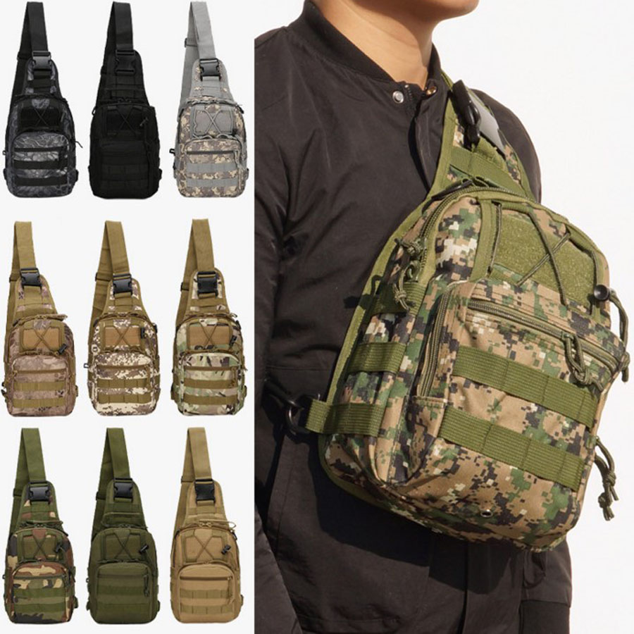 Molle Outdoor Climbing Bags Military Tactical Backpack Single Shoulder Bag Sport Backpack Camping Hiking Bag Travel Rucksack Bag