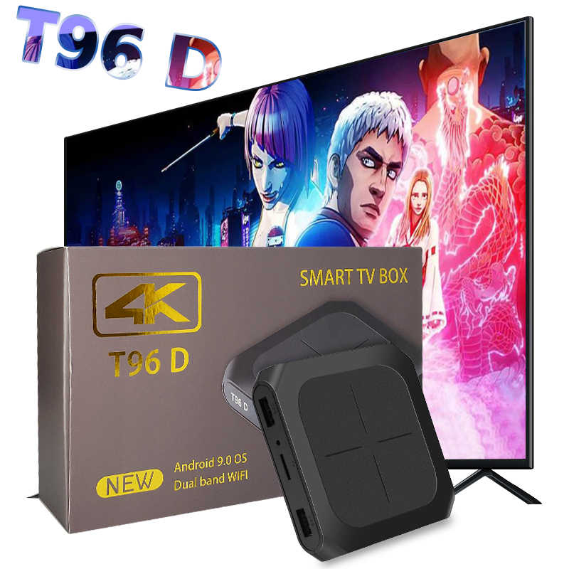 Top-ขายสมาร์ท Android ทีวีกล่อง Amlogic S905W 4K Media Player T96D 2G 16G HD Dual ชุด WIFI สมาร์ททีวีกล่อง