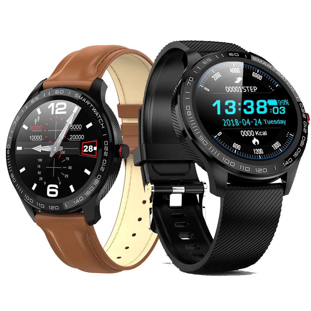 2020newL9 Men Smart Watch IP68 Waterproof ECG Heart Rate Blood Pressure Monitor Full Touch Screen Clock For Xiaomi Huawei Phone