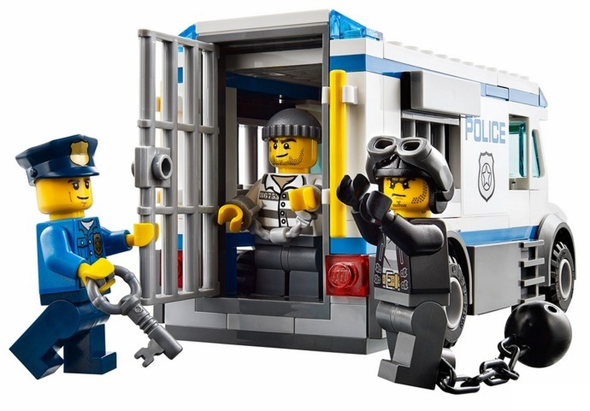 198 pcs prisioneiro transportador cidade polícia urbana blocos de construção tijolos brinquedos compatíveis com legoinglys pogo
