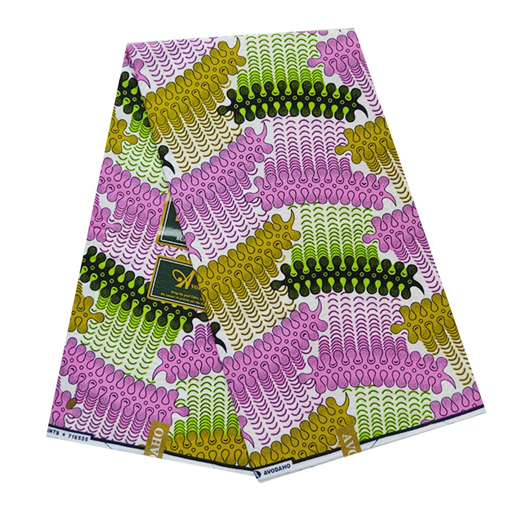 2019 Latest Ghana Ankara African Wax Fabric Pagne Cotton Tissue Real Holland Block Print Super JAVA Nigerian Wax Fabric Kitenge