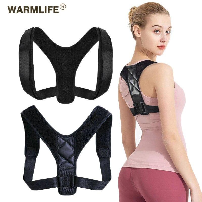 Volta postura corrector cinto ajustável clavícula coluna volta ombro postura lombar correção