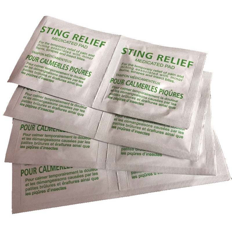 200 Pcs Sting Relief Prep Pad, Sting Preparation Pad, Insect Sting Remove Wipes