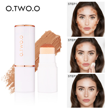 O.TWO.O  Concealer Stick Full Cover Contour Face Makeup Foundation Base Hide Blemish Pores Bronzer Cosmetic setting powder face full cover contour concealer stick foundation 3 colors moisturizer dark eye circle hide blemish bronzer facial base makeup