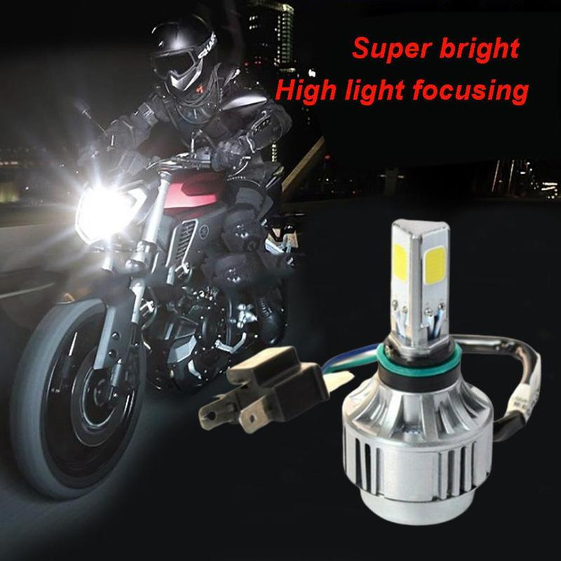 Hot Sale Motorcycle LED Headlamp Front Light Bulb Lamp H4 High-beam Low-beam Energy-saving Headlamp Nondestructive Installation