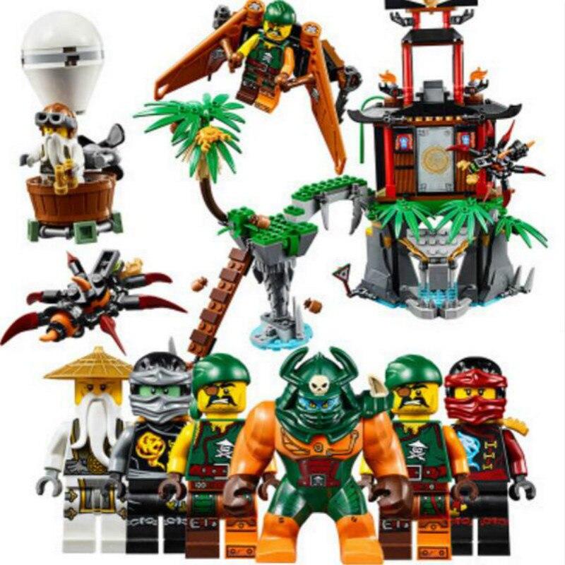 Bela 10461 Ninjago Tiger Widow Island Building Blocks Bricks 70604 Ninja Ninjagoed Figures Model Toys Kids Gift
