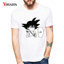 Newest Mens Womens T Shirt Summer Tees Ok Goku Dragon Ball Z Graphic Tee Letters Cartoons 3D T-Shirts Unisex White Tops