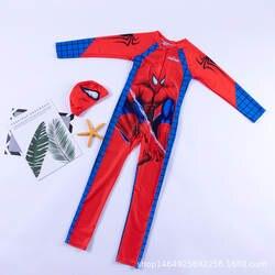Нарядная одежда для мальчиков купальники, из вельвета, для мальчика, цельное платье с длинными рукавами и штанами-паук мужские плавки для