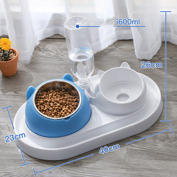 600ml Pet Dog Cat Automatic Feeder Bowl for Dogs Drinking Water Bottle Kitten Bowls Slow Food Feeding Container Supplies 16